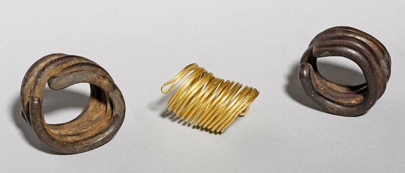 Taucher finden bronzezeitliche Zinn- und Goldringe in der Tollense