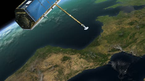 Satellit TerraSAR-X über Europa
