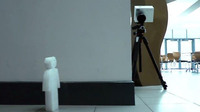 Kamera blickt um die Ecke