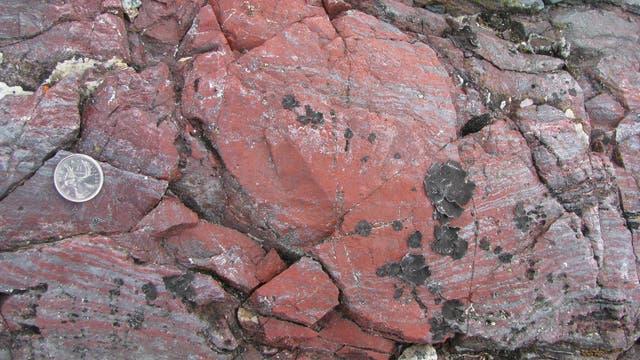 Die eisenreichen Mineralien enthalten womöglich die ältesten Spuren des Lebens auf der Erde