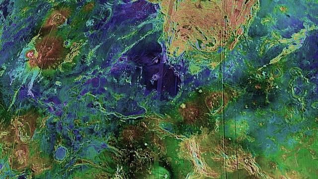 Topographische Darstellung der Venus