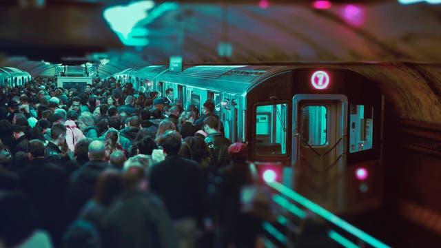 Gedränge in der U-Bahn-Station