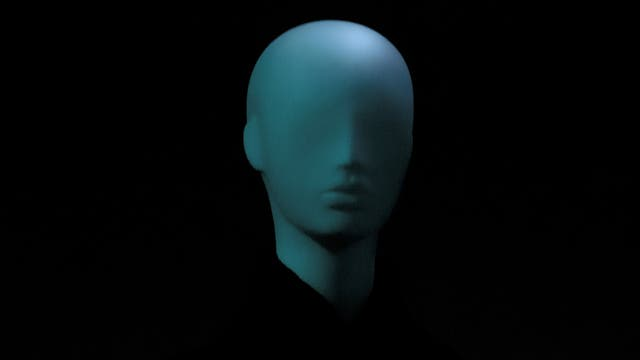 blauer Kopf