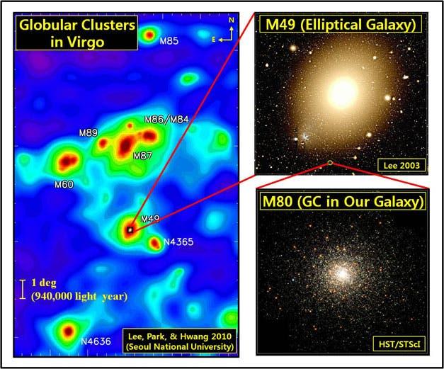 Kugelsternhaufen im Virgo-Cluster