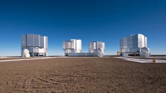 Die vier Teleskope des VLT