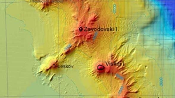 Vulkankette im Südpolarmeer