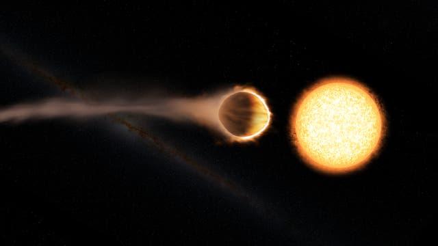 Der Exoplanet WASP-121b (künstlerische Darstellung)