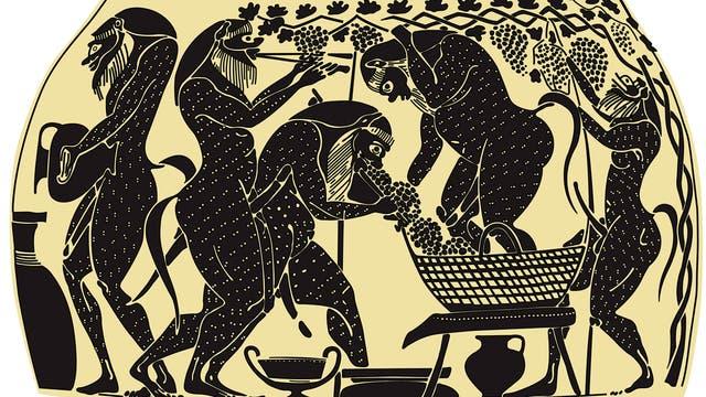 Antiker Weinbau
