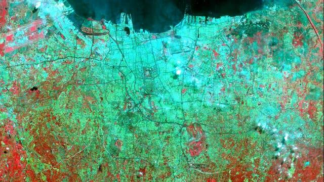 Jakarta aus dem All betrachtet
