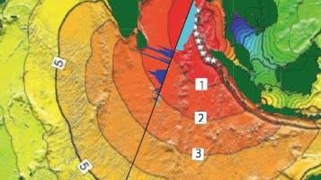 Ausbreitung von Tsunamis im Golf von Bengalen