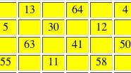 Magisches Quadrat (Ausschnitt)