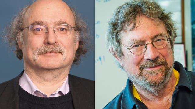 F. D. M. Haldane und J. M. Kosterlitz, zwei der drei Physik-Nobelpreisträger 2016