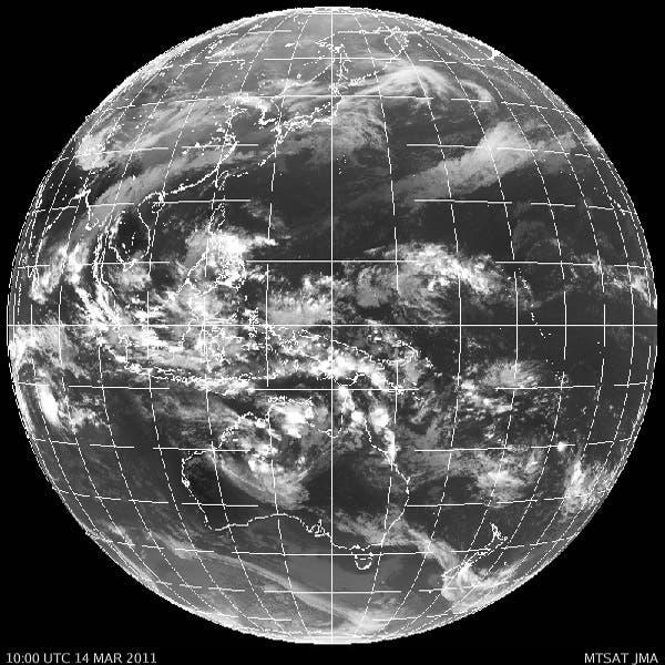 Satellitenbild des Wetters über Pazifik