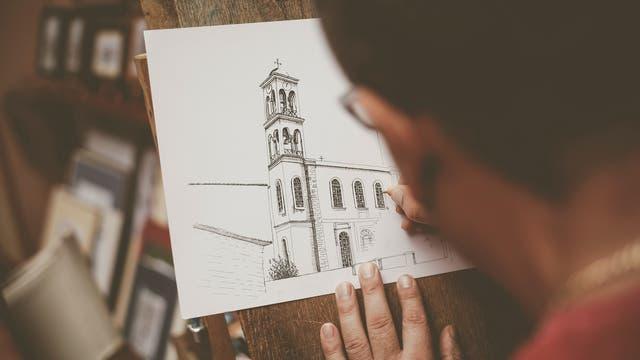 Zeichnen einer Kirche