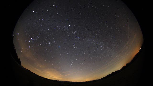 Der Nachthimmel über dem Sternenpark Rhön