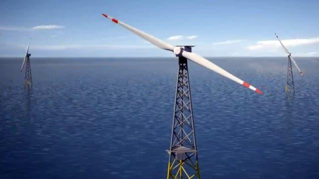 Zweiblättrige Windkraftanlage
